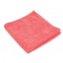 Lavettes Microfibres FIRST 250 gr:M² coloris rouge sachet 10