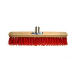 Balai cantonnier PVC rouge douille fer 32 cm