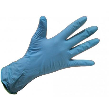 Gants NITRILE bleu taille 7/8 boîte de 100