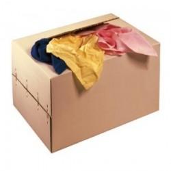 Chiffon coton couleur carton de 10kg
