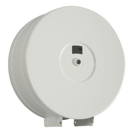 Distributeur Papier toilette Maxi Jumbo 400M ACIER BLANC