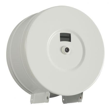 Distributeur Papier toilette Mini Jumbo 200M ACIER BLANC