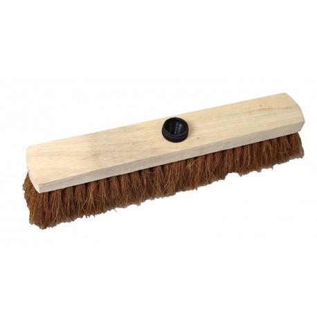 Balai en bois fibre coco - 38cm