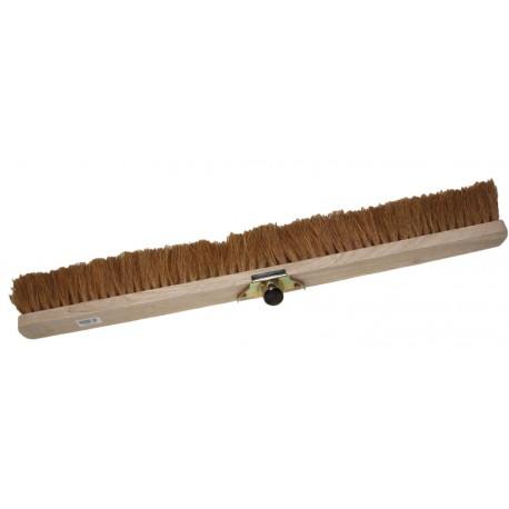 Balai en bois fibre coco - 80cm